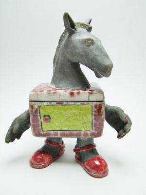 boite cheval ceramique raku