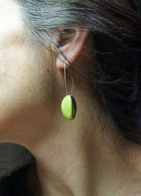 bijou d'oreille en ceramique raku