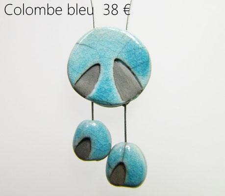 voir les détails du collier ceramique raku fait main