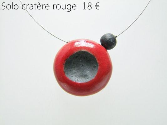 voir la description du collier rouge et noir en raku