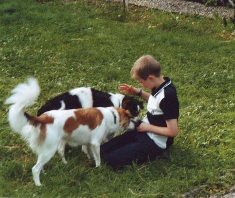 """2004 - Kennenlernen mit den Kromis Benito und seinem Sohn """"Dorjan von der Au"""""""