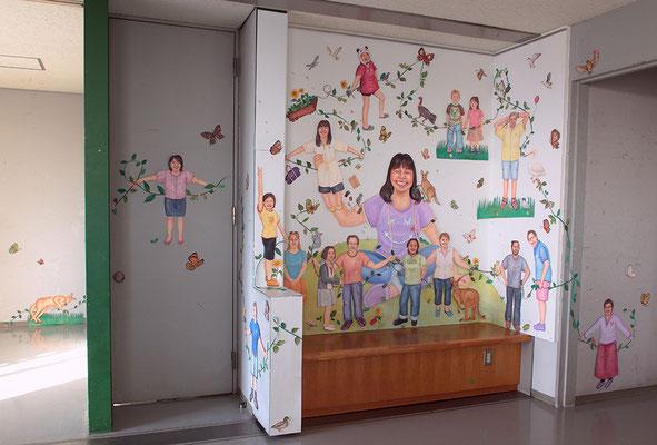 こんにちはこんにちはごっこ Hello game/女子美術大学 洋画棟廊下(神奈川)