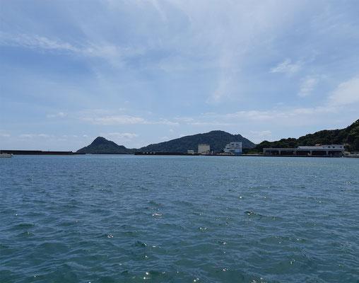 ひょっこりひょうたん島のような大島