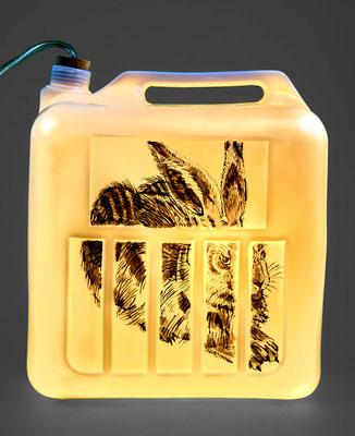 Lampe bidon/ porcelaine