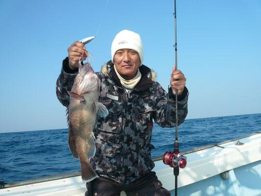 高級魚 ハタ(対馬・ナメル)ゲット