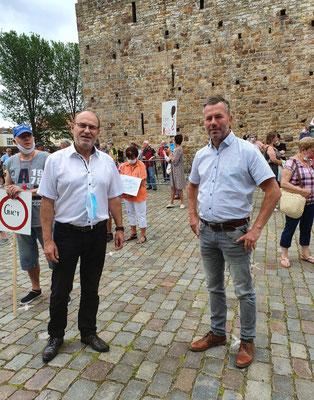 pro-Krankenhaus-Demo in Havelberg mit Bürgermeister Poloski