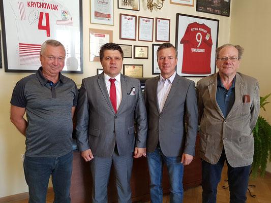Bernd Drong, Pawel Okrasa (Bürgermeister Wielun), Nico Schulz, Horst Guse