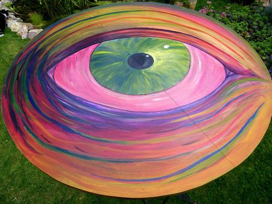 Statafel beschilderd met acrylverf.