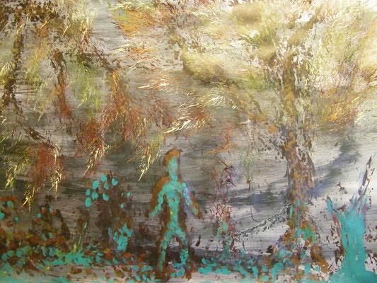 Acrylschilderij geïnspireerd door muziek van 'The Hours' door Philip Glass
