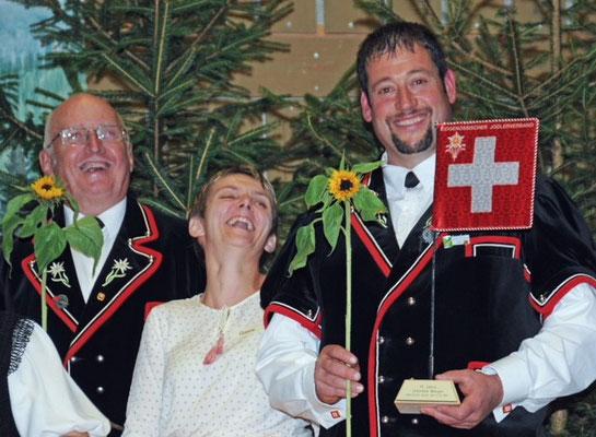 Eine Bündner Sonnenblume für Partnerinnen und Partner, ein Geschenk von Karin Niederberger