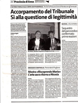 Giornale di Sicilia - 25 maggio 2013