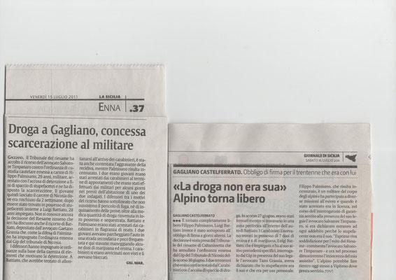 LA SICILIA - Martedì 2 agosto 2011 -  GdS - Sabato 30 luglio 2011 - ASSOLTE DUE INSEGNANTI