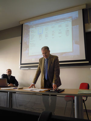 Con il Dott. José Trovato, giornalista professionista Segretario Assostampa Enna