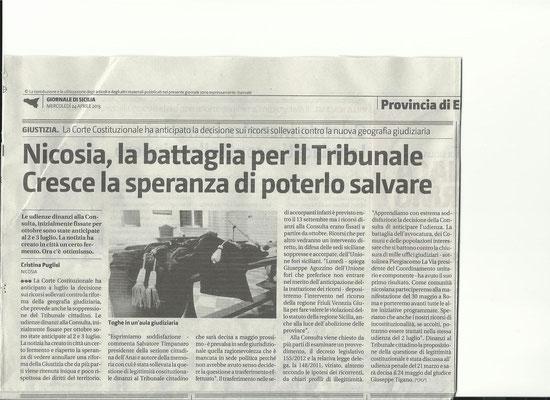 Giornale di Sicilia - Mercoledì 24 aprile 2013