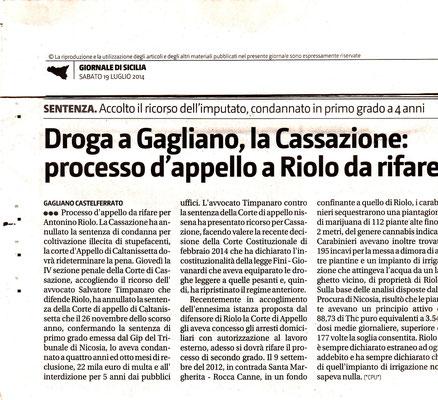 Giornale di Sicilia, Sabato 19 luglio 2014