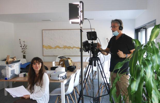 tournage film MITIMPACT (réalisateur Francis Clancy - Elisabeth Blanchet, étudiante)