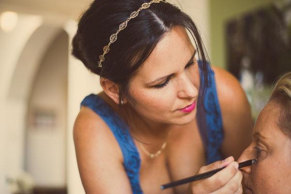 Making of Monika Koller Braut Make-up & Haare