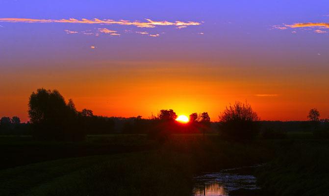 Sonnenaufgang, Merfeld, Mitte Oktober 2018.