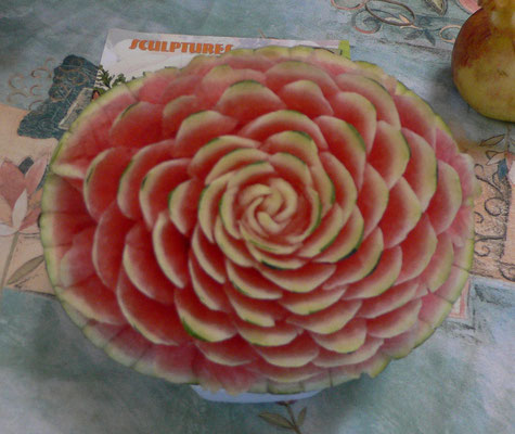Fleur en pastèque - 45 €