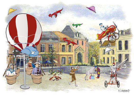 Illustration pour les fêtes de Binbin de la ville de Douai 2009