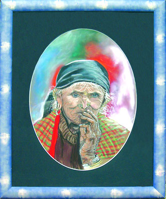 La vieille Femme en Pastel (à vendre - 130 euros)