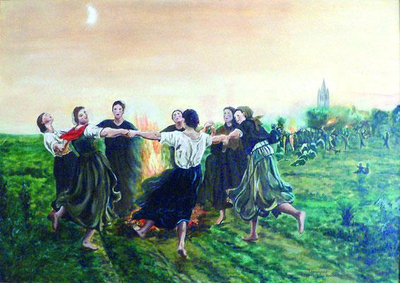 La St Jean d'après Jules Breton en Huile (réserve personnelle)