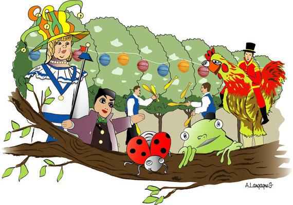 Illustration pour les fêtes de Binbin de la ville de Douai 2008
