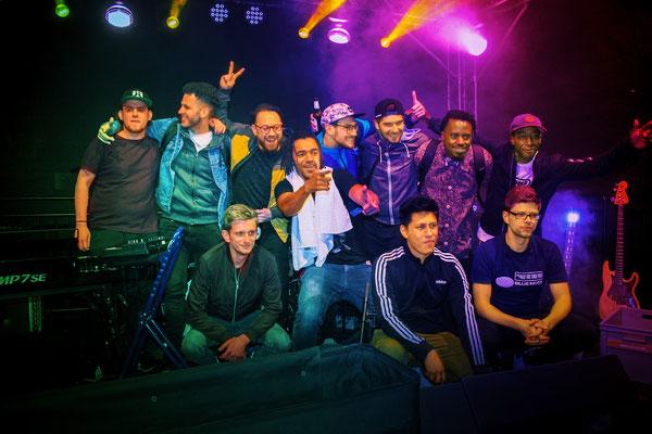 Albert N'sanda, SINO UCK, LIVE, Gorilla Funk, The Panama Sound Collective, Banda Senderos
