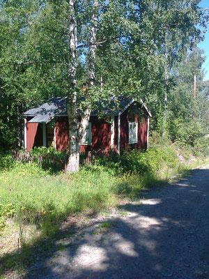 ein einsames, süßes Haus mitten im Wald, viele Kilometer vom nächsten Ort entfernt