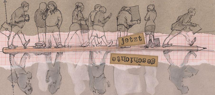 """Buchillustration in """"Masters of Paradise"""", Hajusom im Verlag Theater der Zeit,  """"Es geht hier um Haltung, nicht um Herkunft – Künstler_innen of Color im europäischen Theater"""", Dr. Azadeh Sharifi"""