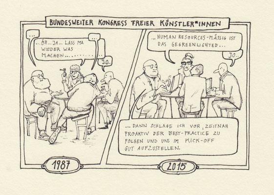 """""""Die Künstler"""" für den Trojaner, Theaterzeitung, Theater Konstanz, Beilage Südkurier, 2015"""