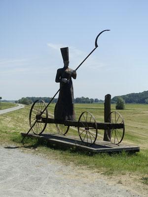 Charon, Fährmann-Skulptur bei Mödlich