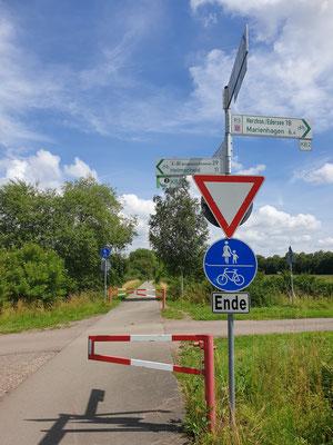 Querung am Ederseebahn Radweg