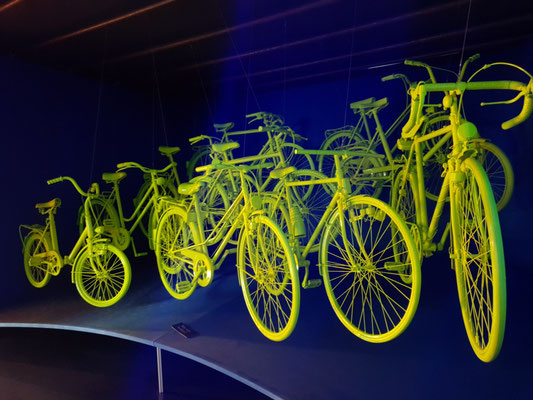 Illuminierte Fahrräder