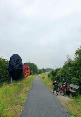Auf dem Skulpturen-Radweg (Lamspringe - Bad Gandersheim)