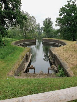 Palmschleuse, älteste Kammerschleuse Europas in Lauenburg