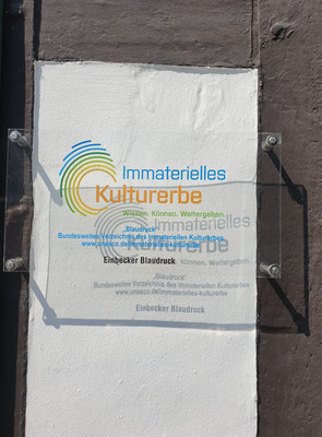 Blaudruck, UNESCO Immaterielles Kulturerbe in Einbeck