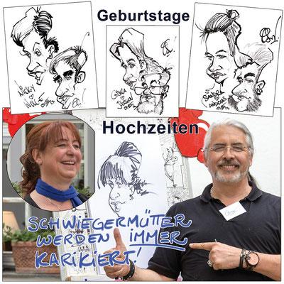 Der Messezeichner und Karikaturist kommt auf die Messe Berlin und sorgt für mehr Messebesucher an Ihrem Messestand. Mit digitalen Karikaturen oder auf A2 Blatt in schwarz weiss sorgt er für Unterhaltung Messestand. Der Eyecatcher und Publikumsmagnet.