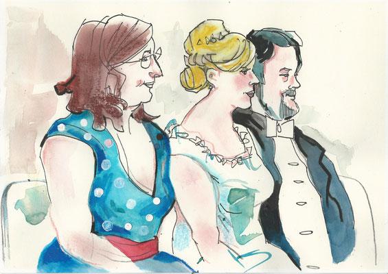 Karikaturistin für Eiserne Hochzeit
