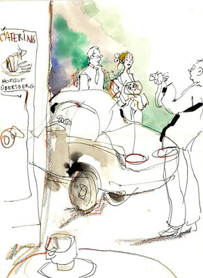 Ein Schnellzeichner Frankfurt und Karikaturist in Frankfurt zeichnet Portaits und Karikaturen meistens schwarz weiß aber auch teilweise mit Farbe. Die Größe eines Bildes sind unterschiedlich und beginnen ab A5 über A4 bis hin zu A3 oder A1 Formate.