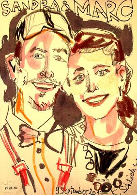 Karikatur Zeichnerin im Raum Stuttgart und auch als Karikaturzeichnerin jederzeit für Messe, Hotel, Events aller Art mit viel Spaß und Humor entstehen diese kleine Kunstwerke an Ihrer Feier und die Gäste sind bestens unterhalten! Jetzt buchen und staunen.