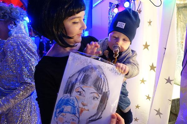 Themenparty mit dem Kunstautomat, Karikaturist, Firmenevent