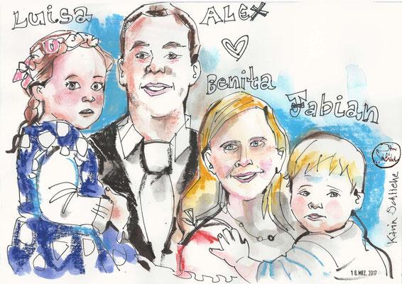 Karikaturistin für Silberne Hochzeit