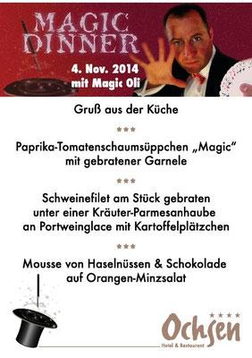 MAGIC OLI WONDER der Zauberer für  Magic Dinner Show  in Stuttgart, in Ihrer Wunschlocation in Balingen, Göppingen, Leonberg, Tübingen, Reutlingen, Metzingen, Pforzheim, Ludwigsburg, Herrenberg, Renningen, Böblingen, Sindelfingen, Bietigheim-Bissingen