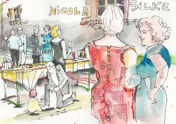 Karikaturistin für goldene Hochzeit