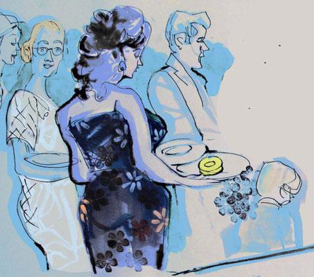 Ein Schnellzeichner Frankfurt und Karikaturist bei Geburtstag, Geburtstagsfeier, als Geschenk für das Geburtstagkind, Geschenkidee,