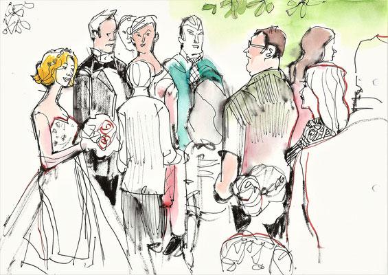 Karikaturist in Frankfurt für Betriebsfeste, Sommerfeste, Weihnachtsfeier, Jubilare, Neueröffnung, Tag der offenen Tür, Ehrungen, Firmenfeier, Betriebsfeier,