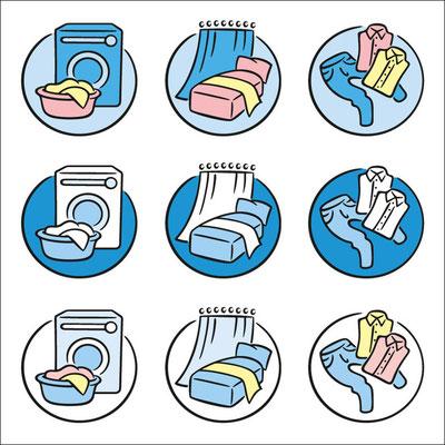 © Illustration für Wäscherei & Heißmangel Schuder im Auftrag von LANFX EDV-Dienstleistungen