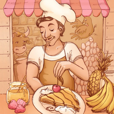 © Illustration für Senor Pastel Mobile Crêperie