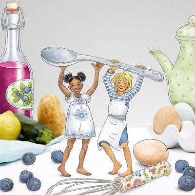 © Illustration für wasfuermich / André & Claudia Schaumann (Autorin), Fotografie: Ilona Habben, Styling: Anne Beckwilm